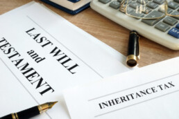 Last will and testament estate paperwork